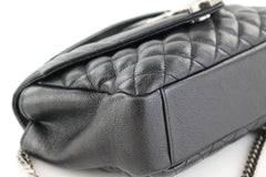 Black Chevron Medium Envelope Bag