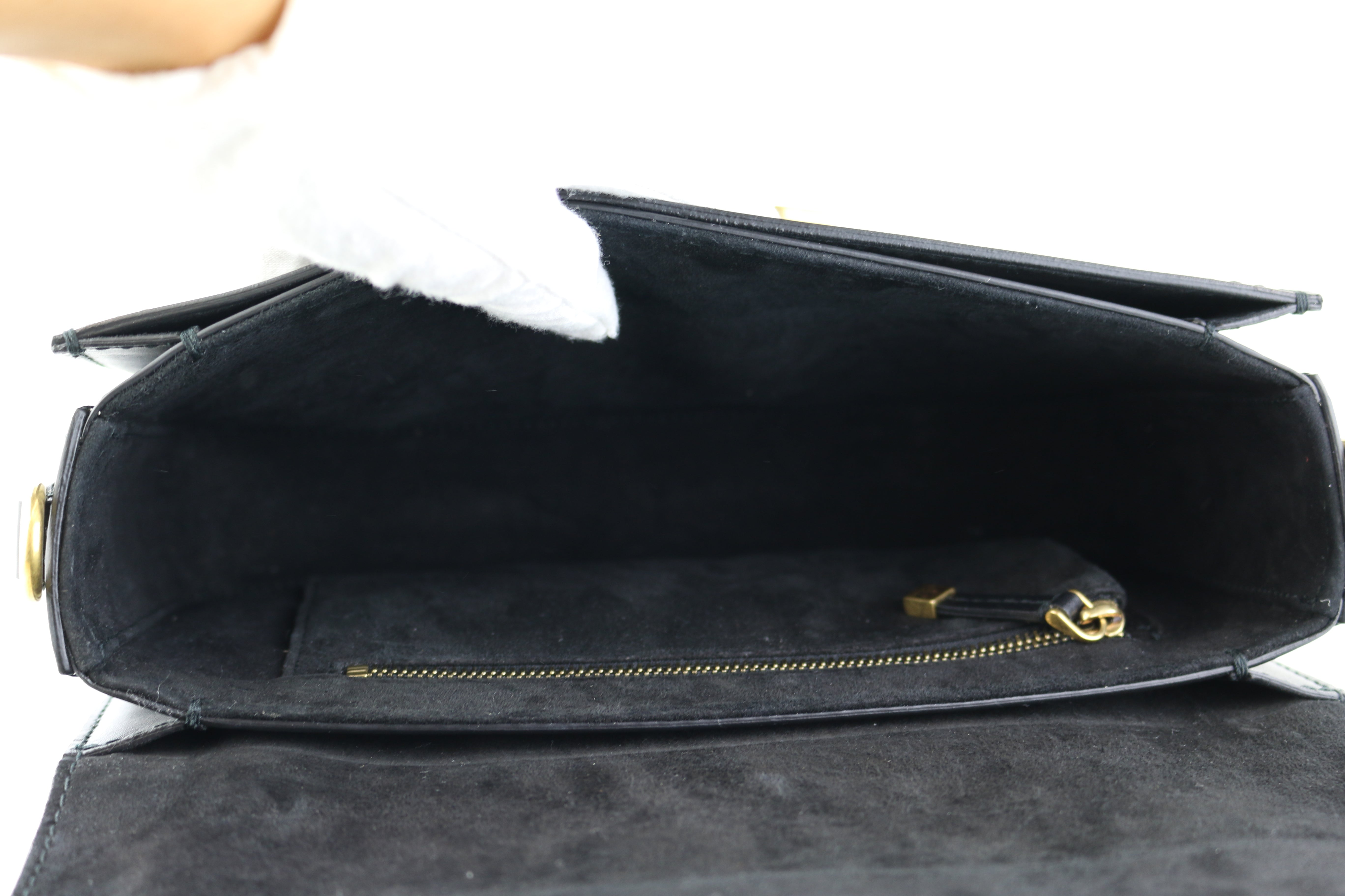 Dio(r)evolution Black Smooth Flap Bag