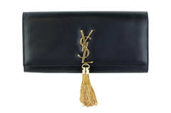Black Kate Tassel Clutch