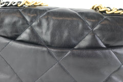 Black Lambskin Small 19 Flap