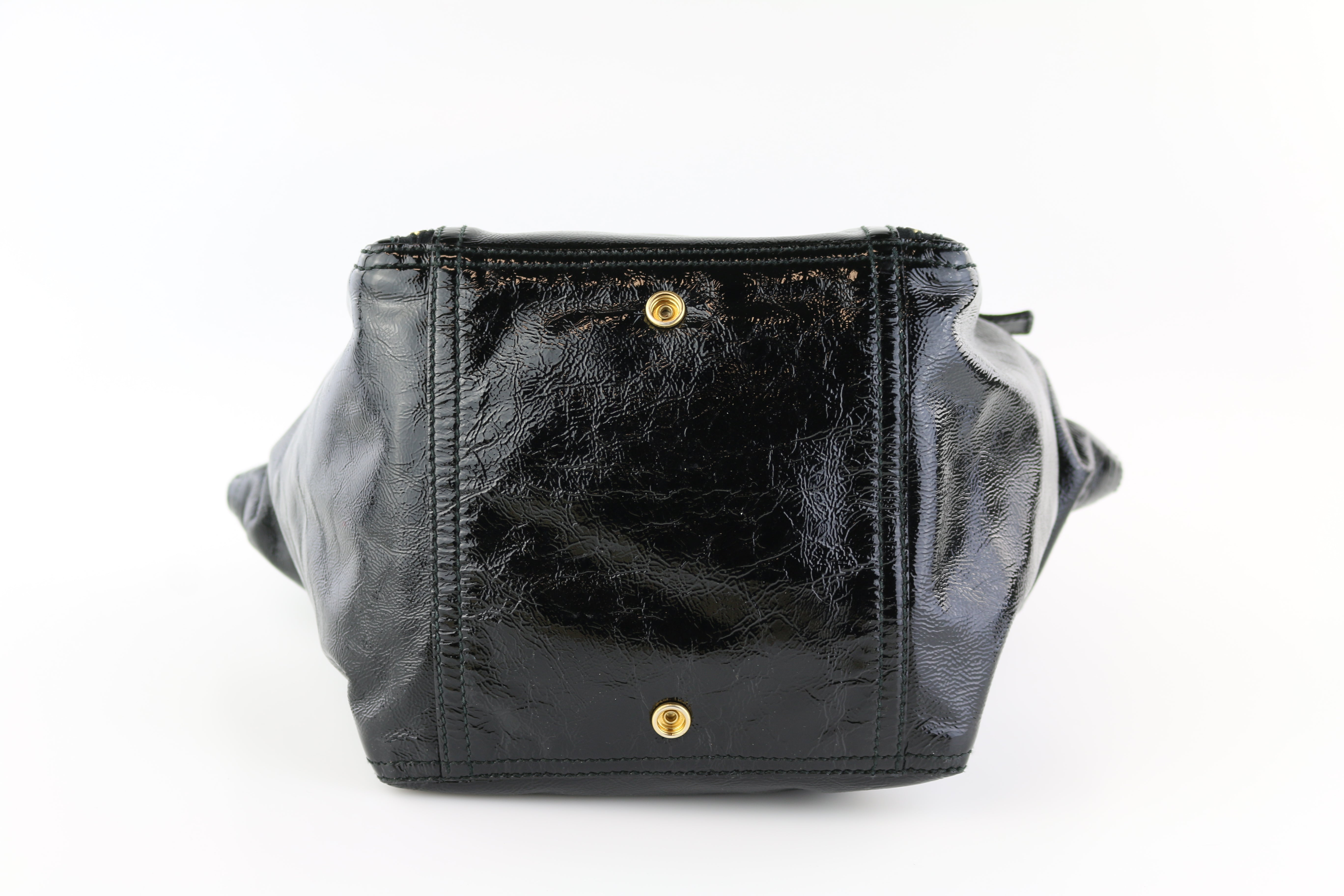 Black Patent Downtown Tote