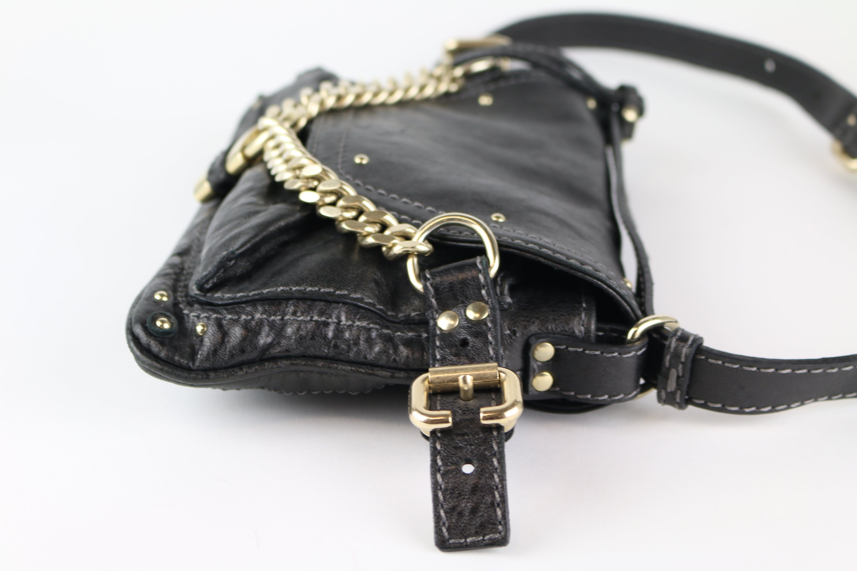 Black Padlock Shoulder Bag