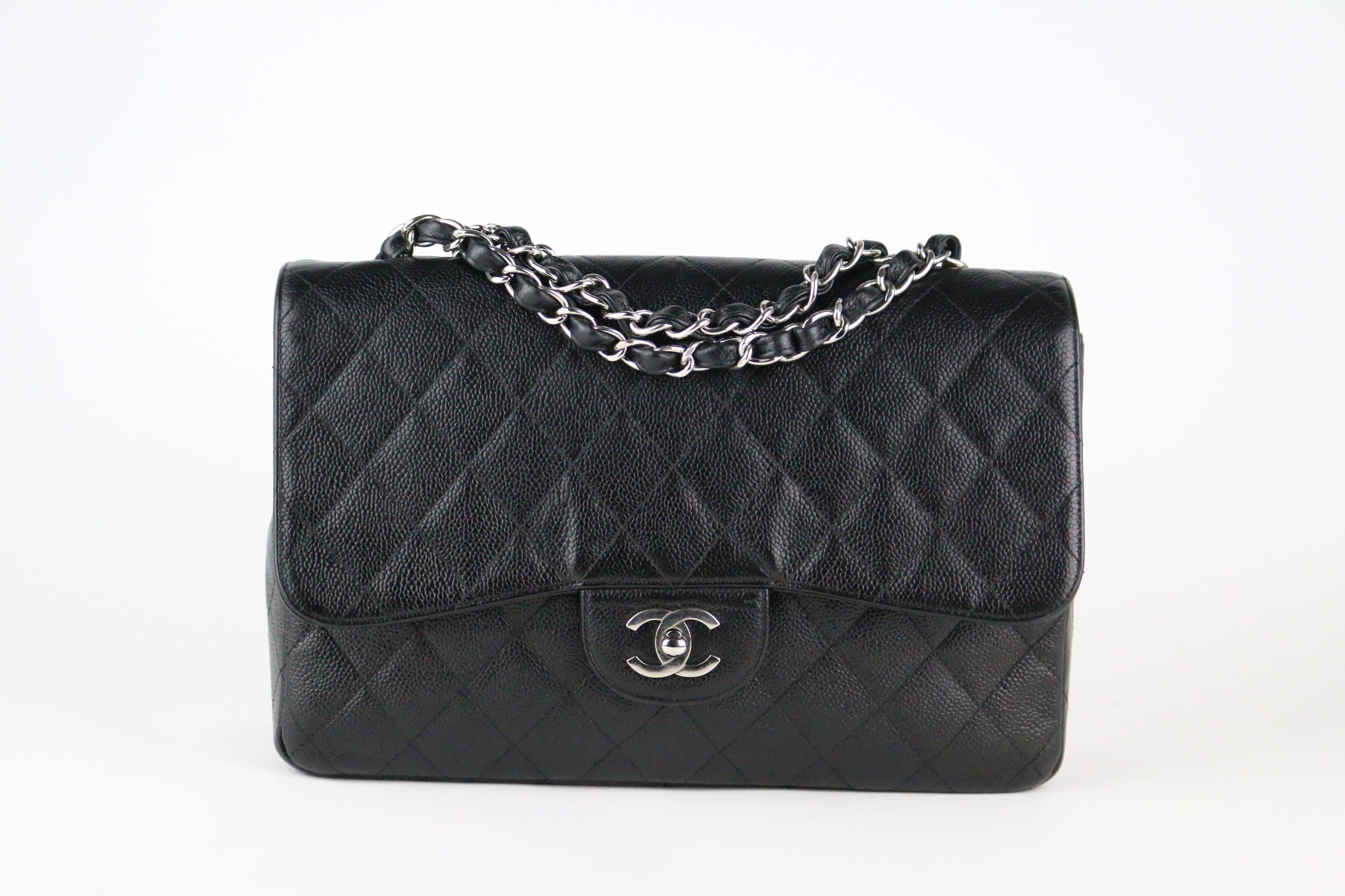 Black Caviar Single Flap Jumbo