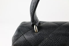 Black Caviar Top Handle Flap