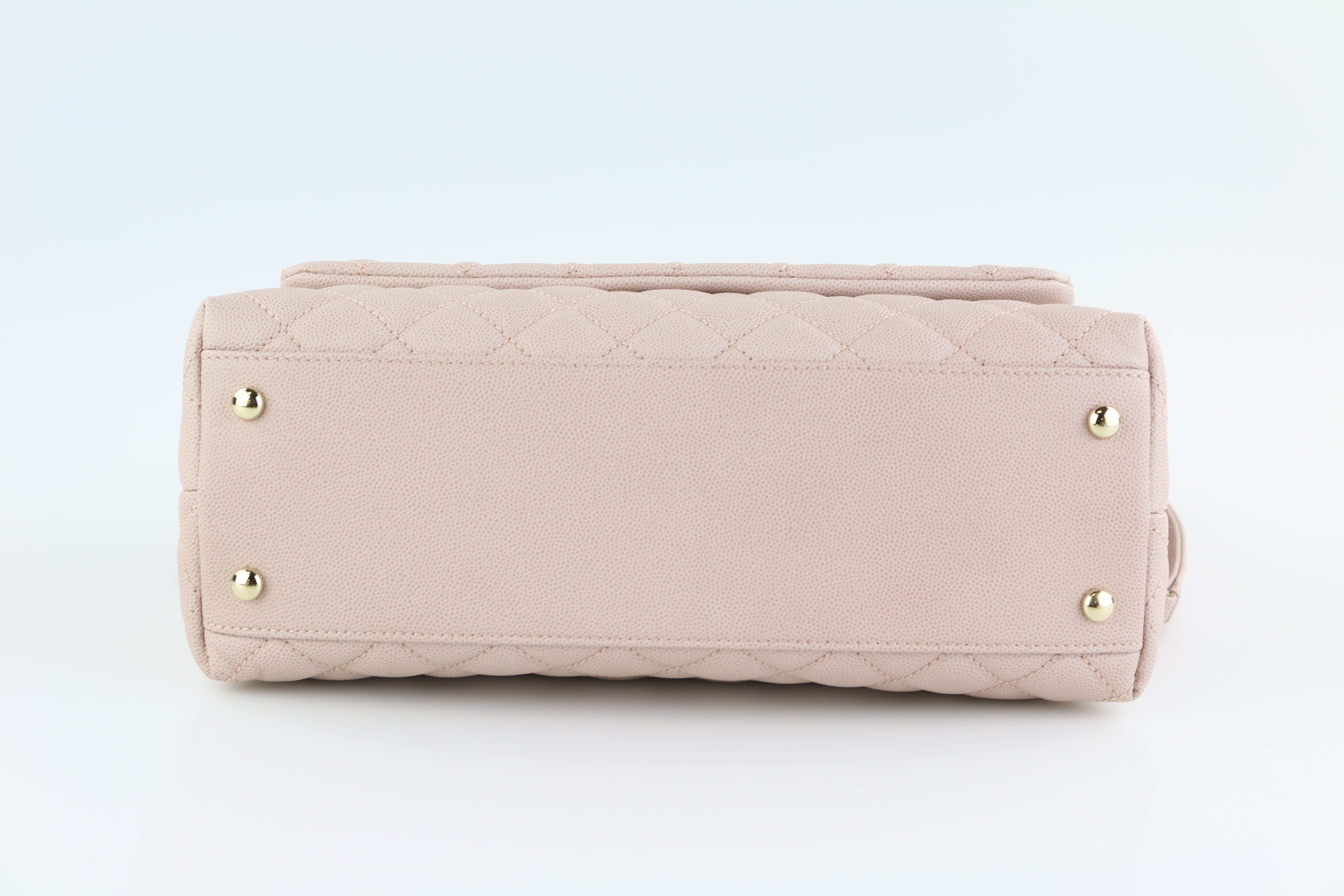 Beige Caviar Small Coco Handle