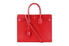 Red Croc Embossed Small Sac de Jour