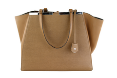 Brown Vitello Elite Large 3Jours Tote