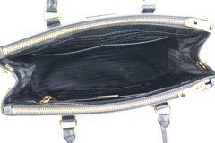 Black Medium Saffiano Lux Tote