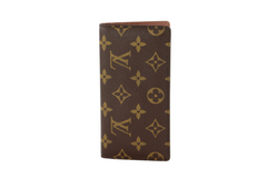 Monogram Checkbook Cover