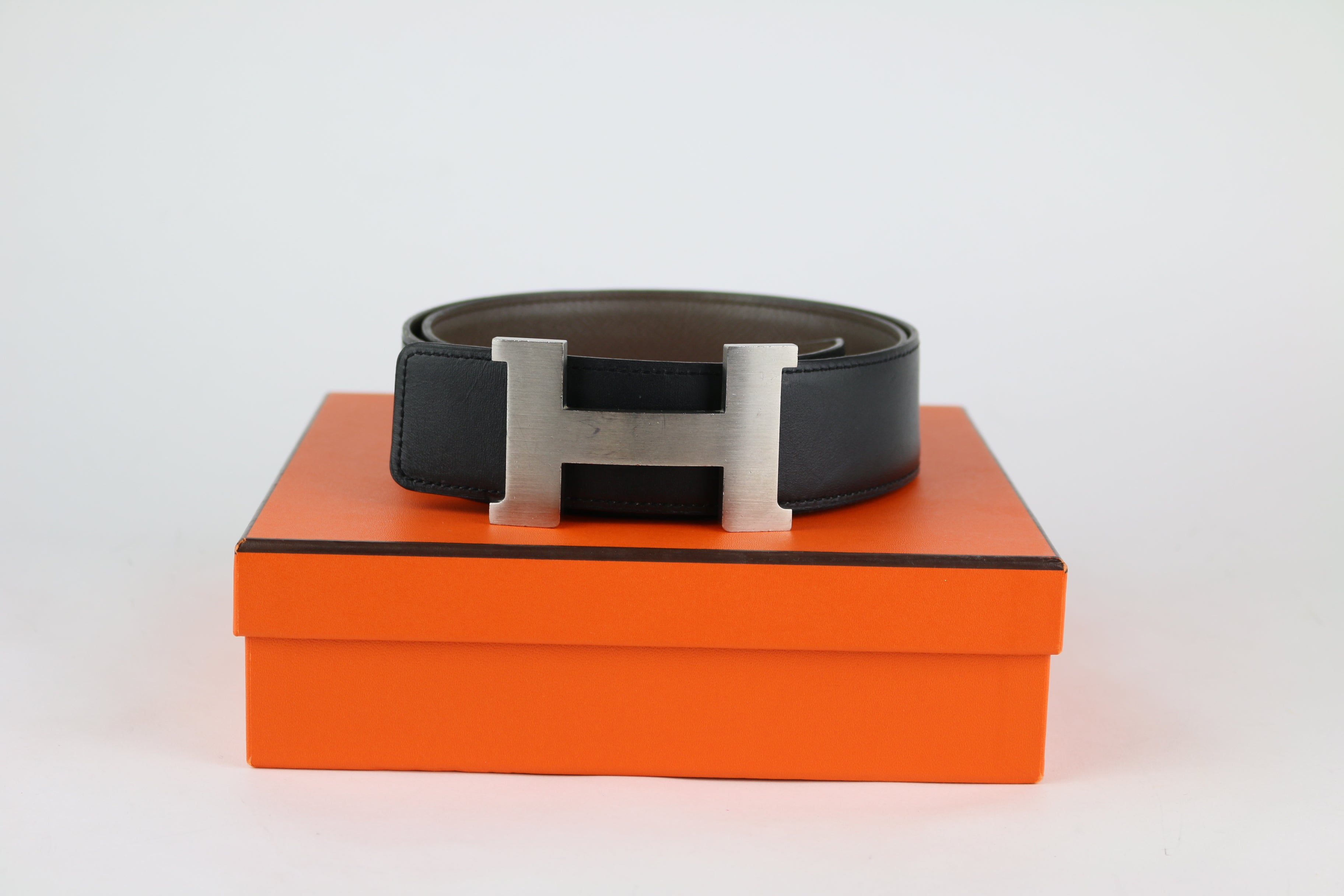 Grey/Black Reversible 95cm Belt