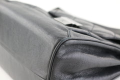 Grey Accordion Push Lock Bag