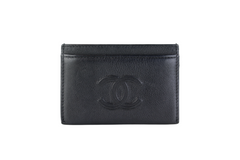 Black Caviar Flat Card Case