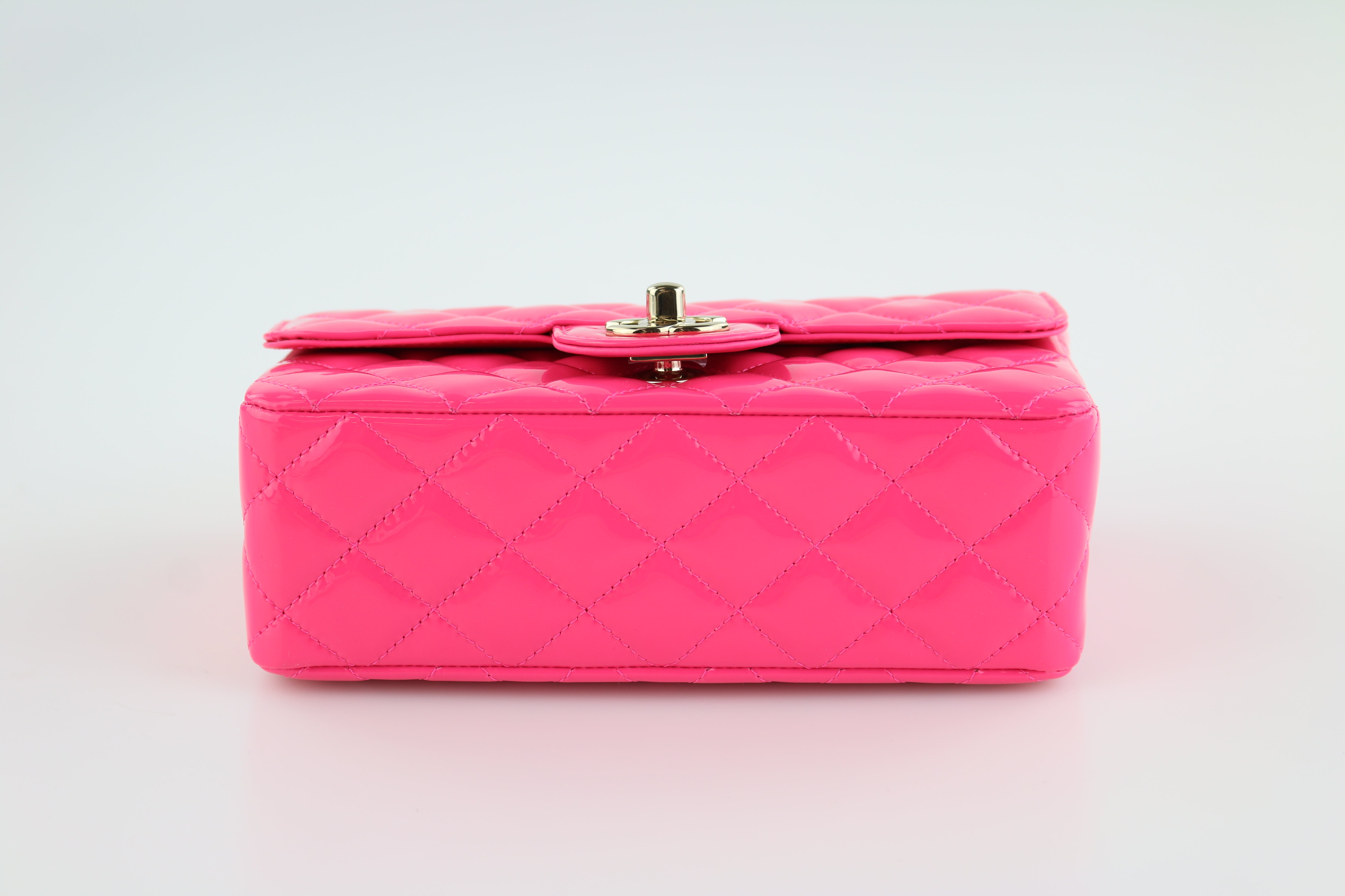 Pink Patent Rectangular Mini