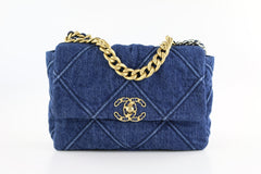 Denim Small 19 Flap Bag