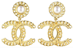 CC Gold/Pearl Earrings