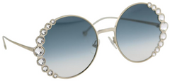Ribbons and Crystals Round Sunglasses