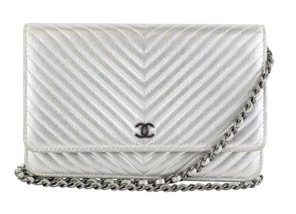 Chevron Silver Metallic WOC