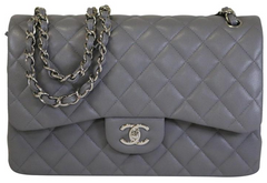 Grey Caviar Double Flap Jumbo