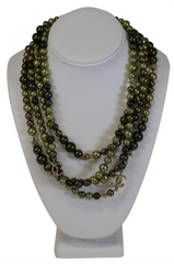 Chanel Multicolored Double Strand Necklace