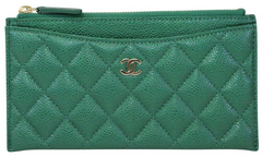 Green Iridescent Flat O Wallet