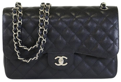 Black Caviar Double Flap Jumbo