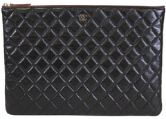 Caviar Quilted Large O Case