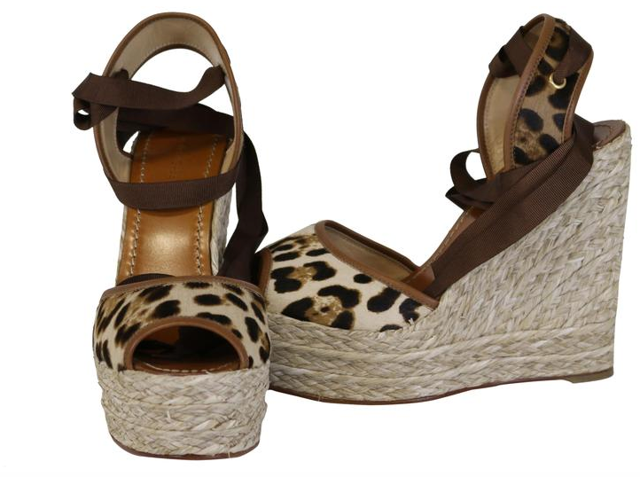 Sandalo Pony Leopard Wedges