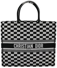 Black/White Checkered Book Tote
