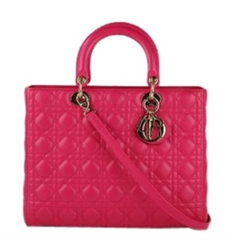 Hot Pink Large 'Lady Dior'