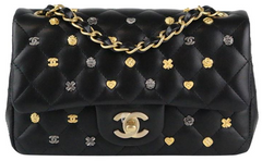 Charms Black Lambskin Rectangular Mini