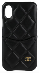 Black Lambskin iPhone Case