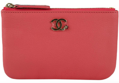 Coral Goatskin Mini O-Case
