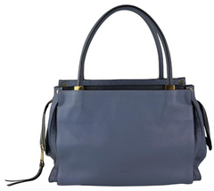 Blue Smooth Calfskin Dree Bag
