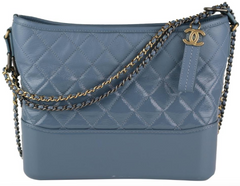 Blue Goatskin Medium Gabrielle Hobo
