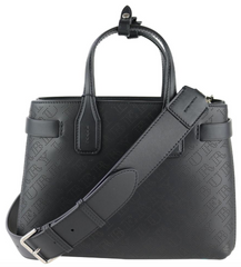 Black Perforated Small Banner Tote