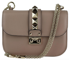 Mauve Rockstud Small Glamlock Bag