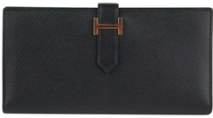 Black Long Bearn Wallet