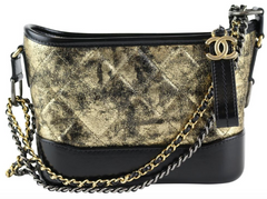 Gold/Black Metallic Small Gabrielle Hobo