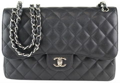 a796aef074e2 Black Caviar Double Flap Jumbo. Chanel