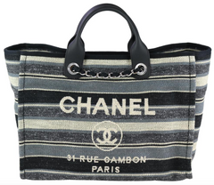 3c18b2da9b91 Striped Tweed Medium Deauville. Chanel