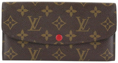 Monogram/Red Emilie Wallet
