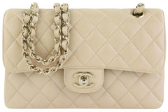 Beige Iridescent Small Flap