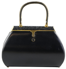 Black Top Handle Minaudiere