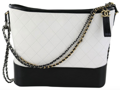 White/Black Large Gabrielle Hobo