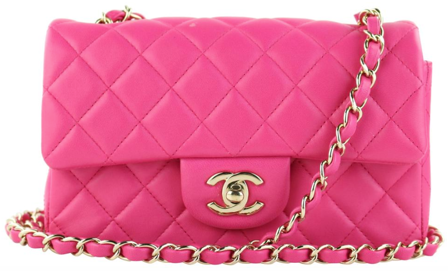 Fuchsia Lambskin Rectangular Mini