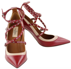 Red Lovelatch Pumps