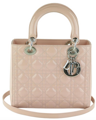 Light Pink Patent Medium 'Lady Dior'