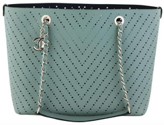 Green Perforated Large Tote