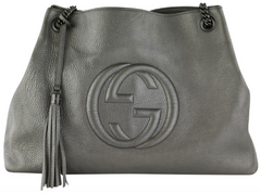 Pewter Soho Shoulder Bag