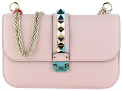 Pink Rockstud Medium Glamlock Bag